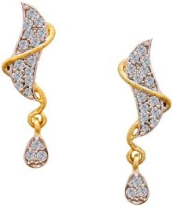 9e4daf7dc4423 Twisha TWISHAS NEW GOLD PLETED TREDITIONAL EAR RING FOR GIRLS & WOMENS  Cubic Zirconia Brass Stud Earring