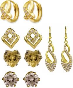 37484abafbe Glitters Online Glitters Gold Plated White Golden Stone Earrings ...