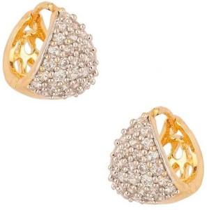 Jewels Guru Diva Style Zircon Alloy Hoop Earring