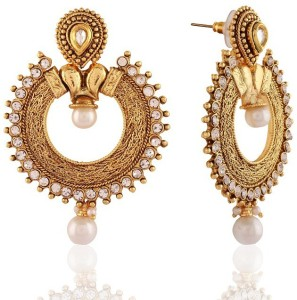 0219c3b0427 Rich Lady Attractive White Gold Plated Jewellery Alloy Chandbali Earring  Best Price in India