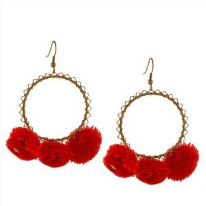 92f66405a Zephyrr Fashion Dangle And Drop Red Pom Pom Earrings For Women Girls Alloy Dangle  Earring Best Price in India | Zephyrr Fashion Dangle And Drop Red Pom Pom  ...