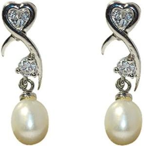 MP Fine Jewellery Exclusive Fresh Water Tops Zircon Alloy Drop Earring