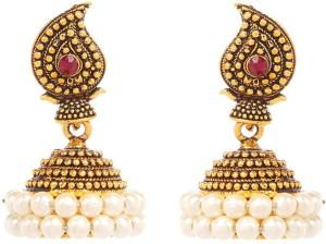 GoldNera Pearls Jazz Alloy Jhumki Earring