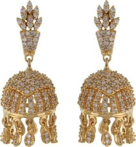 Aarushi Fashionable Cubic Zirconia Alloy Jhumki Earring