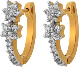 Alysa Elili Cubic Zirconia, Ruby Brass, Copper Huggie Earring