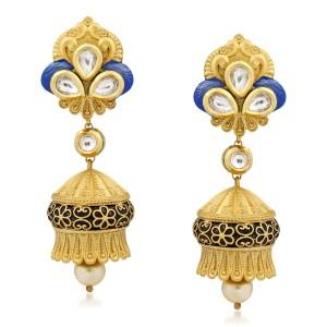 VK Jewels Fabulous Kundan Alloy Jhumki Earring