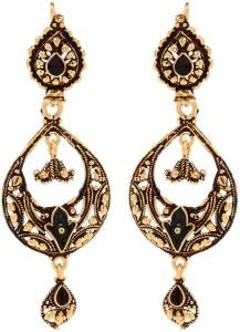 GoldNera Antique Drop Brass Chandbali Earring