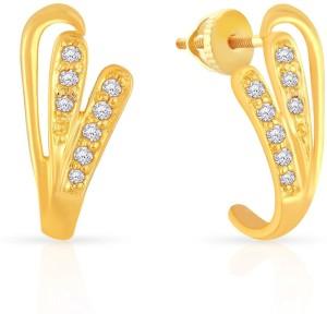 050b59786 Malabar Gold and Diamonds STSKYDZE048 Yellow Gold 22kt Stud Earring ...