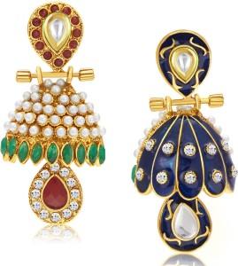 94607d60c Sukkhi Attractive Meenakari Reversible Alloy Jhumki Earring Best Price in  India | Sukkhi Attractive Meenakari Reversible Alloy Jhumki Earring Compare  Price ...