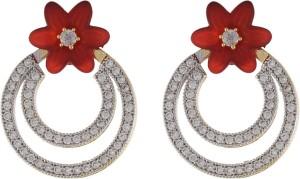 Aarushi Sparkling Cubic Zirconia Alloy Dangle Earring