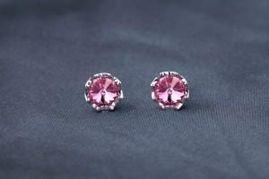18012acb2 Yellow Chimes Pink Curvy Swarovski Crystal Alloy Stud Earring Best ...