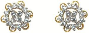 MP Fine Jewellery Stylish Pair Of Tops Zircon Alloy Stud Earring