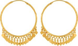GoldNera Leaf Brass Hoop Earring