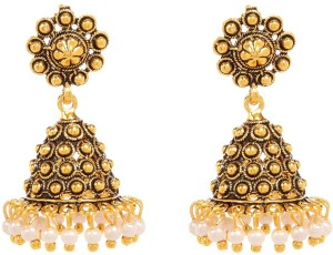 GoldNera Very Small Dome Alloy Jhumki Earring