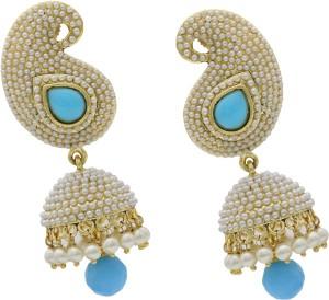 Hyderabad Jewels Beautiful Pearl Copper Jhumki Earring