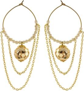 f30034e47 Abhika Jewels Multi layered chain and pearl Alloy Hoop Earring Best ...