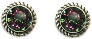 Vinayak Antique Quartz Sterling Silver Stud Earring