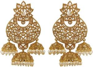 Muchmore Unique Design Work Rajwadi Earrings For Women Wedding Jewelry Alloy Jhumki Earring