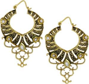 Zaveri Pearls Designer Kundan Brass Dangle Earring