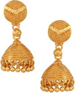 Fashionaya Temple Brass Jhumki Earring