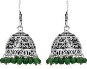Aarvi Collections Spring Sparkle Pearl Brass Jhumki Earring