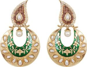 Jewelfin Beautiful Princes Alloy Chandbali Earring