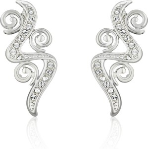 9ce5aecce Mahi White Intricate Curl Crystal Brass Alloy Stud Earring Best Price in  India | Mahi White Intricate Curl Crystal Brass Alloy Stud Earring Compare  Price ...