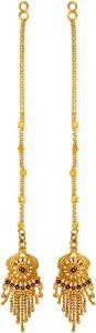 GoldNera Kanchain Beautiful Brass Dangle Earring