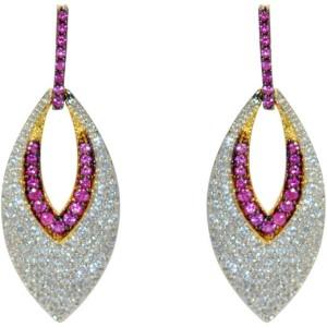 MP Fine Jewellery Lovely Pair Of Tops Zircon Alloy Drop Earring