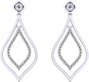 a305f151a599a7 Pooja Sonam Innia Cubic Zirconia Silver Dangle Earring Best Price in India  | Pooja Sonam Innia Cubic Zirconia Silver Dangle Earring Compare Price List  From ...
