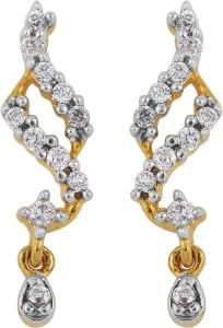 Emeralds Bazar Party Wear Gold Plated Cubic Zirconia Brass Drop Earring