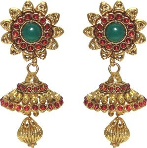 MP Fine Jewellery Adorable pair of Tops Zircon Alloy Jhumki Earring