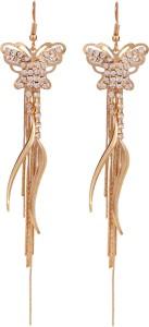 Sansar India Butterfly Tassel Alloy Tassel Earring