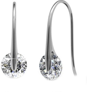 Yellow Chimes Crystal Drop Swarovski Crystal Metal Dangle Earring