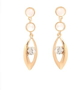 GoldNera Monalisa Eye Design Alloy Dangle Earring