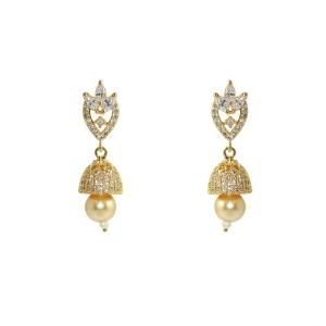MP Fine Jewellery Designer Tops For Women Zircon Alloy Jhumki Earring
