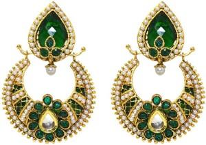 MP Fine Jewellery Artistic Pair Of Tops Cubic Zirconia Alloy Chandbali Earring