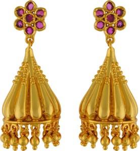 Aarushi Beautiful Cubic Zirconia Alloy Jhumki Earring