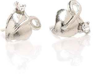Tsquare Textured Heart Alloy Stud Earring