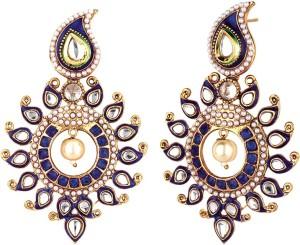 Jewels Capital Diva Style Pearl Alloy Chandbali Earring