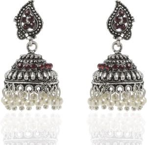 GoldNera Antique Silver Jhumki Alloy Jhumki Earring