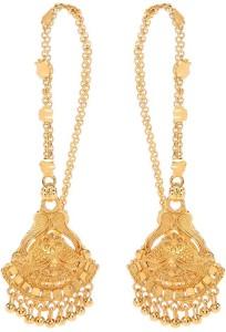 GoldNera Southindian Design Brass Ear Thread