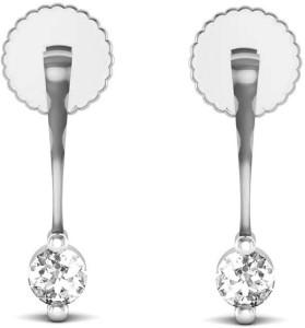 Avsar Mira Yellow Gold 14kt Swarovski Crystal Stud Earring