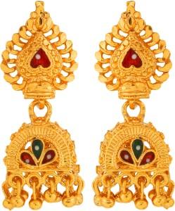 GoldNera Brass, Enamel Jhumki Earring