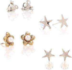 GoldNera Floral Alloy Earring Set