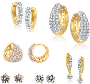 Archi Collection Just Like Diamond Cubic Zirconia Alloy Earring Set
