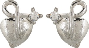 GoldNera Textured Heart Alloy Stud Earring