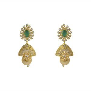 MP Fine Jewellery Sparkling Pair Of Tops Zircon Alloy Jhumki Earring