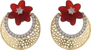 Aarushi Traditional Cubic Zirconia Alloy Chandbali Earring