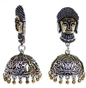 Jewels Gold Cubic Zirconia Alloy Jhumki Earring